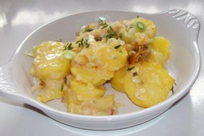 Würziges Kartoffel-Birnen-Gratin mit Gorgonzola - Rezept