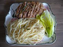 Geflügel : Entenbrust an gebutterten Spaghetti - Rezept