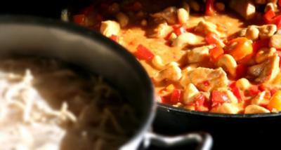 Süßes Chilihähnchen mit Mie-Nudeln - Rezept