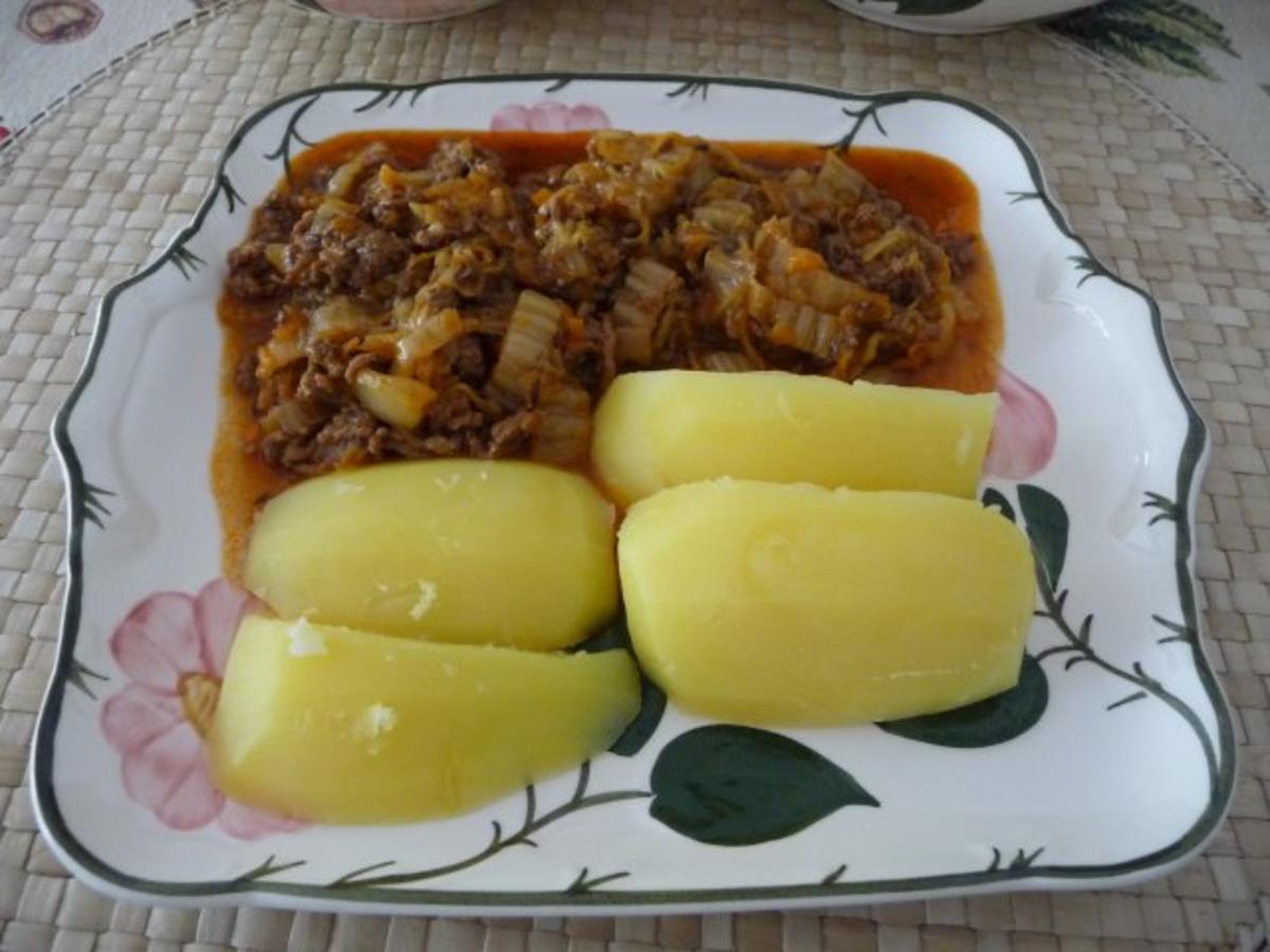 Rezept chinakohl hackfleisch kartoffeln