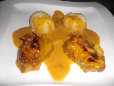 Lende mit Ananas-Curry-Sauce - Rezept