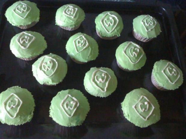 Werder- Bremen Cupcakes - Rezept