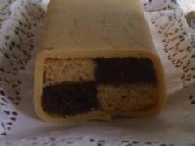 Schokoladen- Battenberg- Kuchen - Rezept