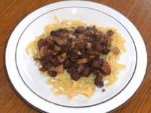 Fleisch: Lammbauch geschnetzelt mit Mischpilzen - Rezept