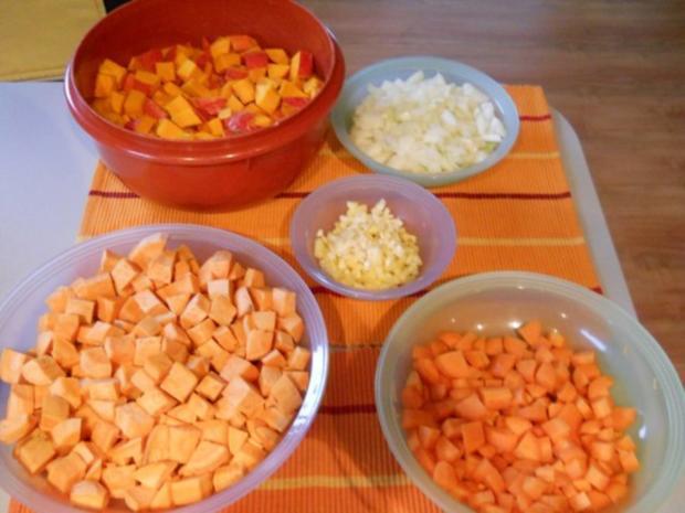 Kürbiscremesuppe mit Süsskartoffeln - Rezept - Bild Nr. 4