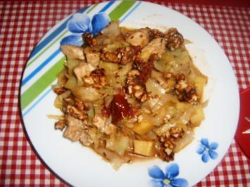Hähnchen-Kraut-Schmorpfanne - Rezept