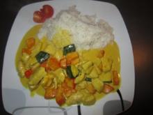 Curry-Kürbis-Hühnchen-Pfanne - Rezept