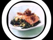 Lachs mit karamellisierten Zwiebeln - Rezept