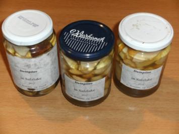 Pilze: Steinpilze in Salzlake - Rezept
