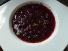 Eine köstliche rote Suppe - Rezept