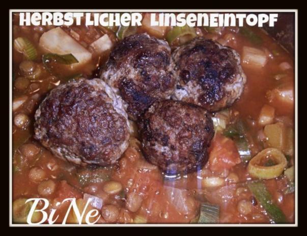 BiNe` S HERBSTLICHER LINSENEINTOPF - Rezept