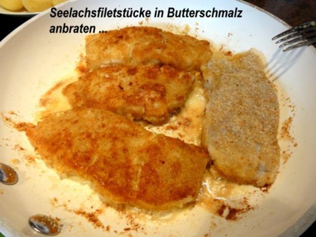 Fisch:   SEELACHS mit Seitling-Käse-Kruste - Rezept - Bild Nr. 8