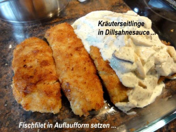 Fisch:   SEELACHS mit Seitling-Käse-Kruste - Rezept - Bild Nr. 9