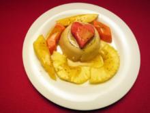 Exotischer Fruchtsalat und Manjar de angel - Rezept