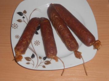 Polnische Rohwurst selbst gemacht - Rezept