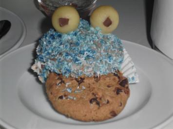 Rezept: Krümelmonster-Cupcakes