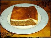 Mandel-Nougat-Kuchen mit Quarkguß - Rezept