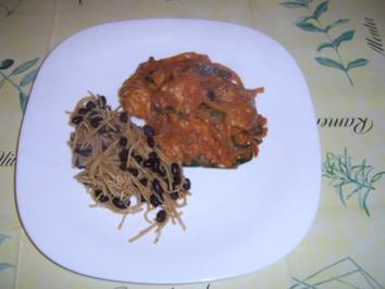 """Scharfes (Rind) """"Hühnchen""""-fleisch mit Bohnensauce - Rezept"""