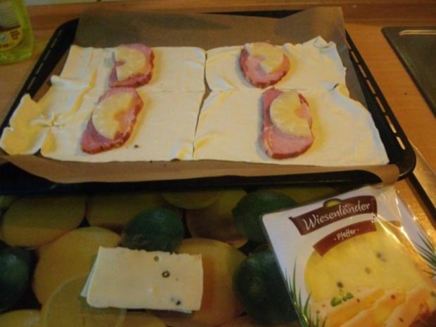 Kasseler mit Ananas und Käse in Blätterteig - Rezept - Bild Nr. 4