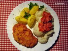 Tomaten/Paprika/Käse-Soße zu Blumenkohl - Rezept