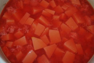 Kompott mit Muskatkürbis oder Butternutkürbis - Rezept