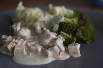 Hähnchengeschnetzeltes in Frischkäse-Sauce - Rezept