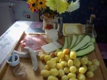 Zucchiniröllchen mit Rosmarinkartoffeln - Rezept