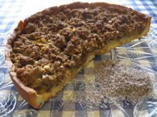 Birnenkuchen mit Mohnstreusel - Rezept