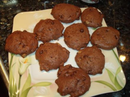 Schoko-Cookies mit Pekannüssen - Rezept