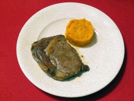 American Beef Ribeye Steak mit Süßkartoffelpüree - Rezept