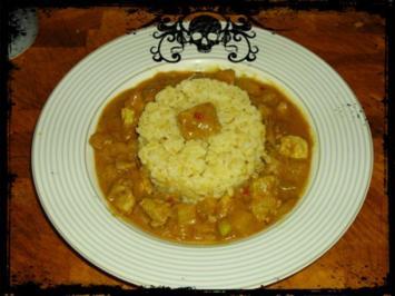 Feurig-fruchtiges Curry-Gulasch - Rezept