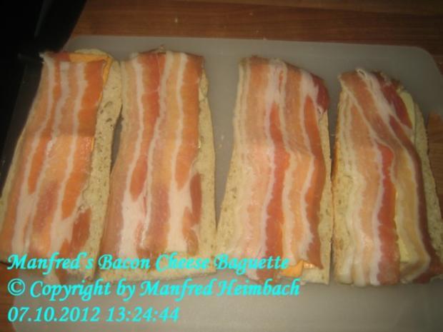 Fingerfood – Manfred's Bacon-Cheese Baguette - Rezept