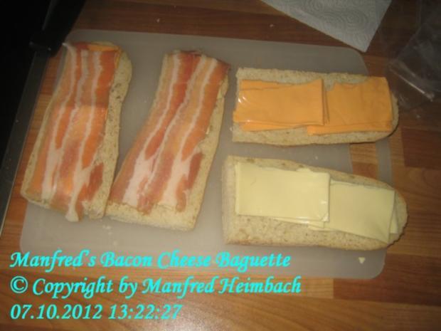 Fingerfood – Manfred's Bacon-Cheese Baguette - Rezept - Bild Nr. 2