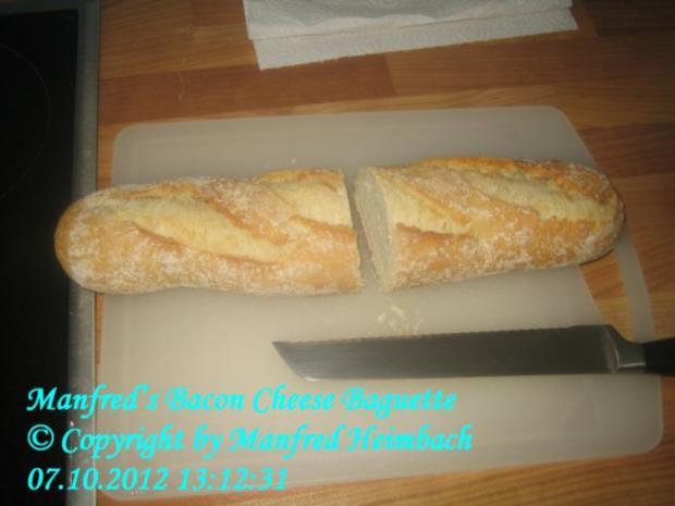 Fingerfood – Manfred's Bacon-Cheese Baguette - Rezept - Bild Nr. 4