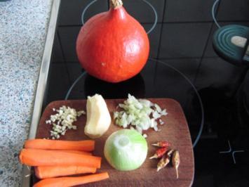 Scharfes Kürbissüppchen - Rezept
