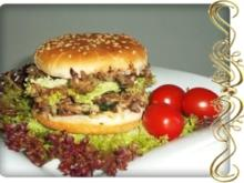 Hausgemachter Hamburger - Vegetarisch mit Lollo rosso Salat - Rezept