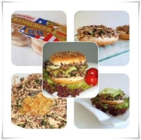 Hausgemachter Hamburger - Vegetarisch mit Lollo rosso Salat - Rezept - Bild Nr. 7