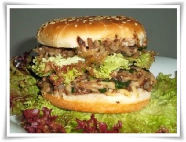Hausgemachter Hamburger - Vegetarisch mit Lollo rosso Salat - Rezept - Bild Nr. 20