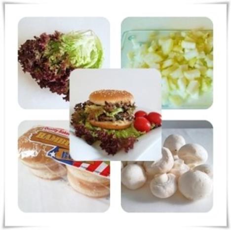 Hausgemachter Hamburger - Vegetarisch mit Lollo rosso Salat - Rezept - Bild Nr. 12