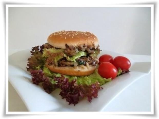 Hausgemachter Hamburger - Vegetarisch mit Lollo rosso Salat - Rezept - Bild Nr. 18