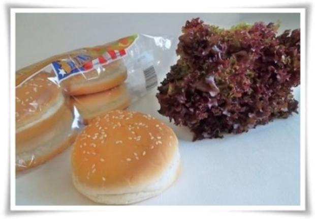 Hausgemachter Hamburger - Vegetarisch mit Lollo rosso Salat - Rezept - Bild Nr. 2