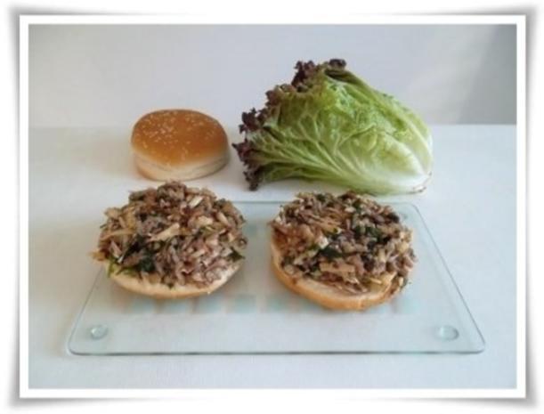 Hausgemachter Hamburger - Vegetarisch mit Lollo rosso Salat - Rezept - Bild Nr. 17
