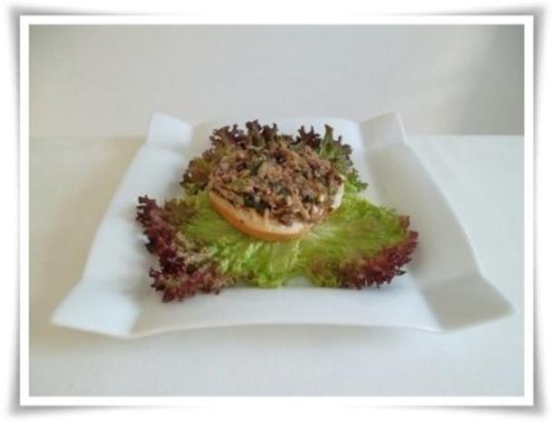 Hausgemachter Hamburger - Vegetarisch mit Lollo rosso Salat - Rezept - Bild Nr. 15