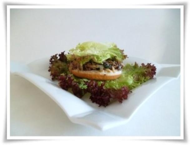 Hausgemachter Hamburger - Vegetarisch mit Lollo rosso Salat - Rezept - Bild Nr. 16