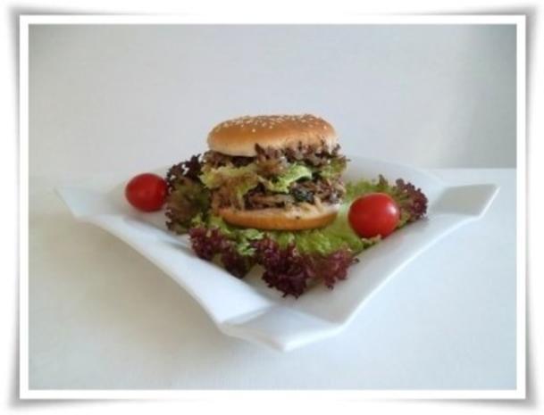 Hausgemachter Hamburger - Vegetarisch mit Lollo rosso Salat - Rezept - Bild Nr. 19
