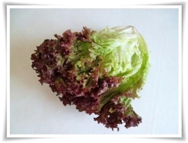 Hausgemachter Hamburger - Vegetarisch mit Lollo rosso Salat - Rezept - Bild Nr. 5