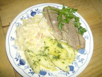 Suppenfleisch mit Rahmwirsing und Petersilienkartoffeln - Rezept
