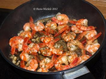 Garnelen in Knoblauch      (Crevettes à l'ail) - Rezept