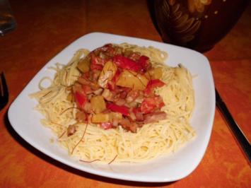 Scharfe Kasseler-Ananas-Pfanne>> - Rezept