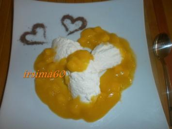 Joghurt - Sahne - Creme mit Mango - Rezept